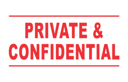 PRIVATE & CONFIDENTIAL